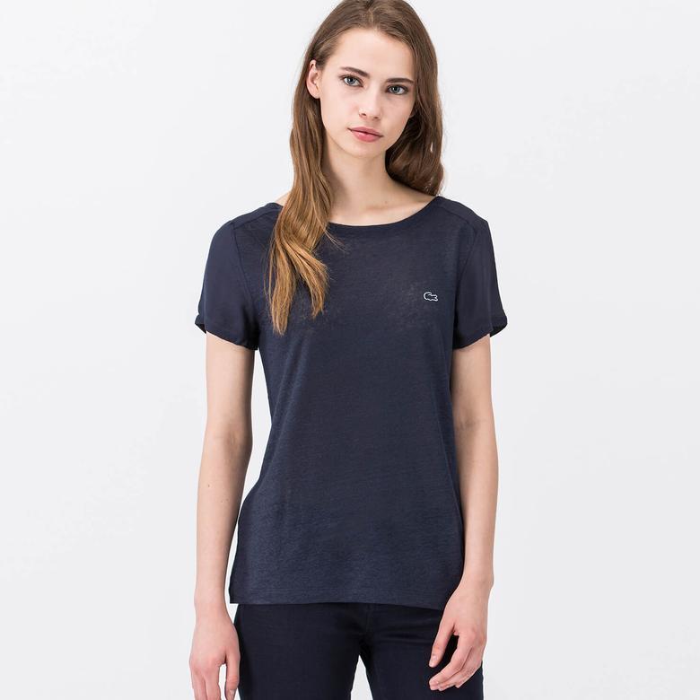 Lacoste Lacivert Kısa Kollu Kadın Tshirt