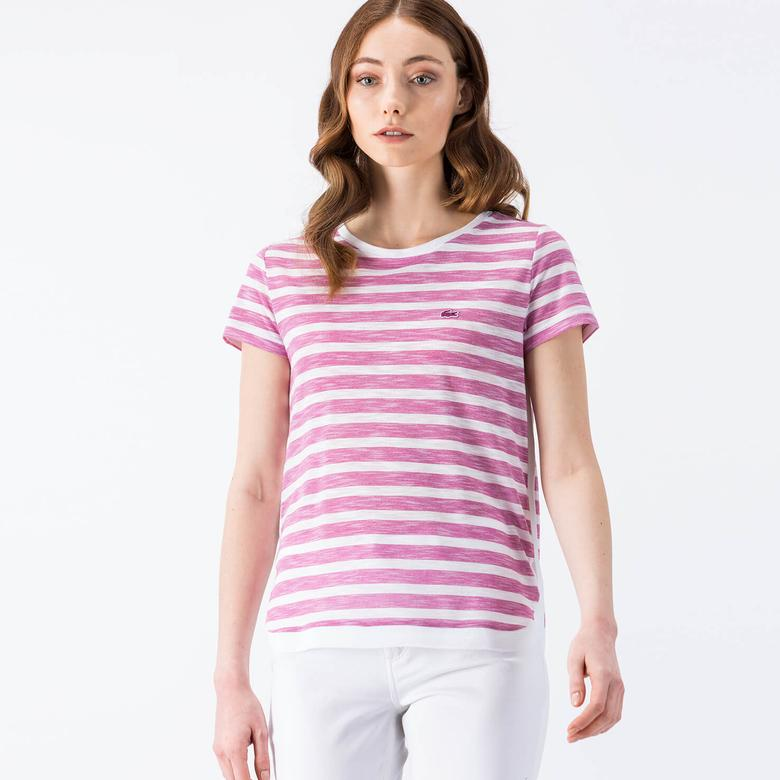 Lacoste Pembe Kadın Tshirt