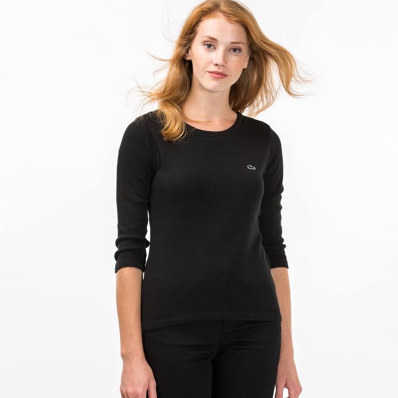 Lacoste Kadın Siyah Tshirt
