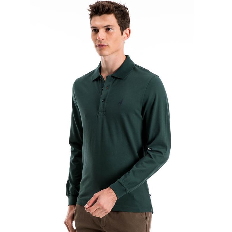 Nautica Erkek Yeşil Uzun Kollu Slim Fit Polo