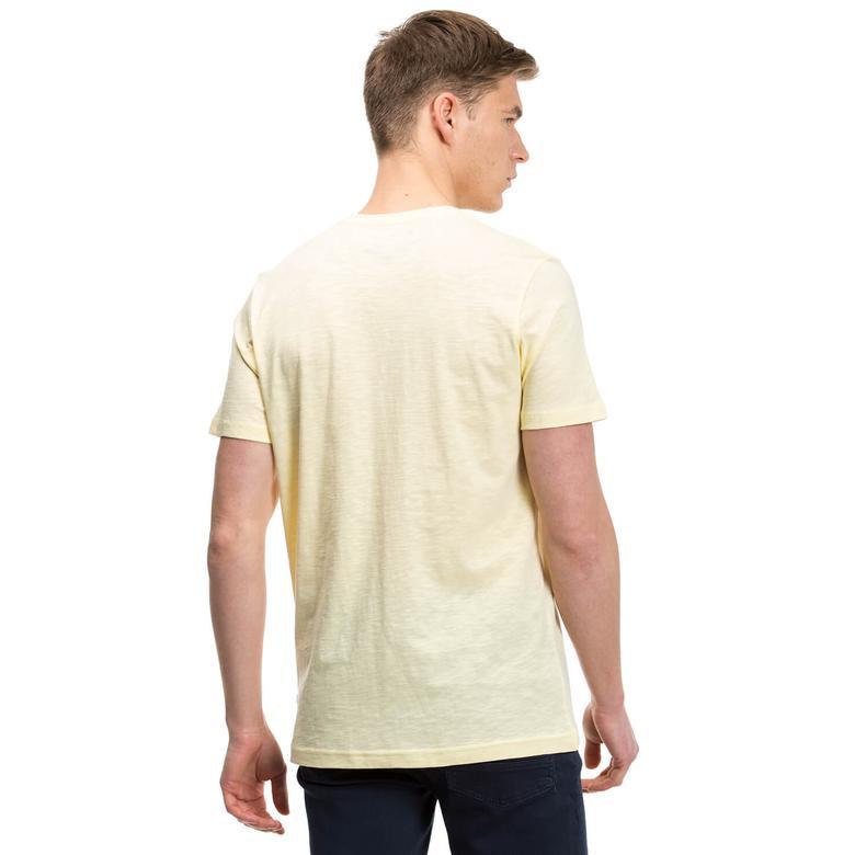 Nautica Erkek Sarı Slim Fit T-Shirt