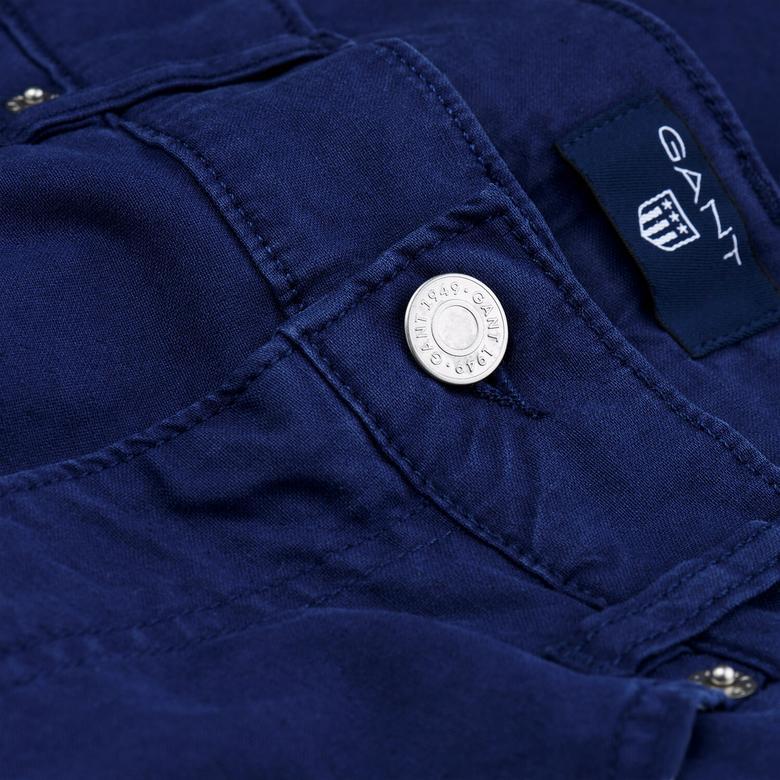 Gant Erkek Lacivert Regular Fit Pantolon