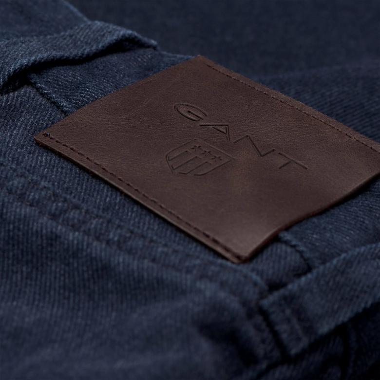 Soft Twill Erkek Koyu Lacivert Regular Jean