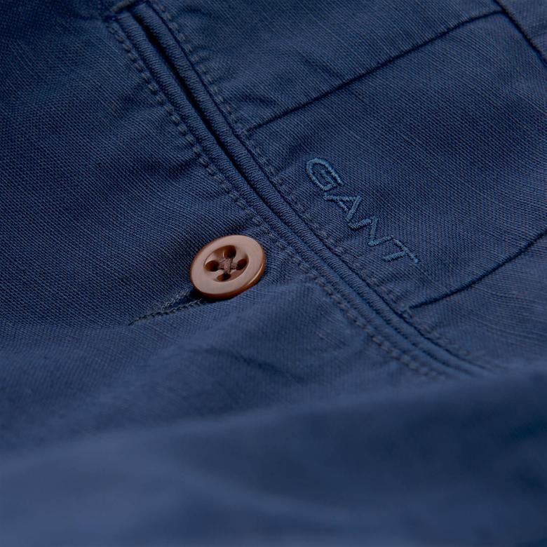 Gant Erkek Chino Lacivert Regular Fit Pantolon