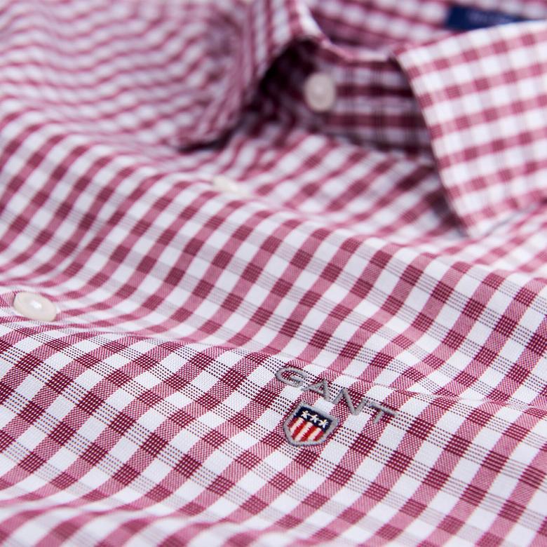 Gant Erkek Bordo Uzun Kollu Regular Fit Gömlek
