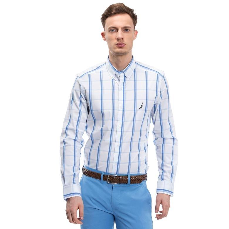Nautica Erkek Mavi Slim Fit Gömlek