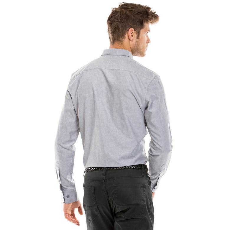 Nautica Erkek Kahverengi Slim Fit Gömlek