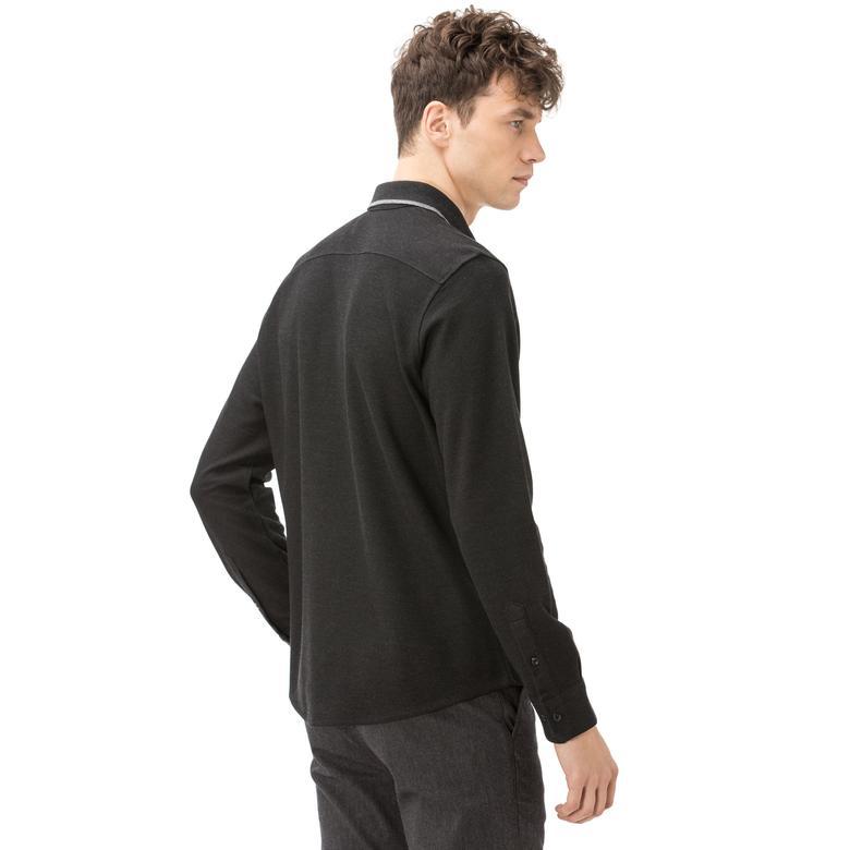 Nautica Uzun Kollu Erkek Siyah Polo
