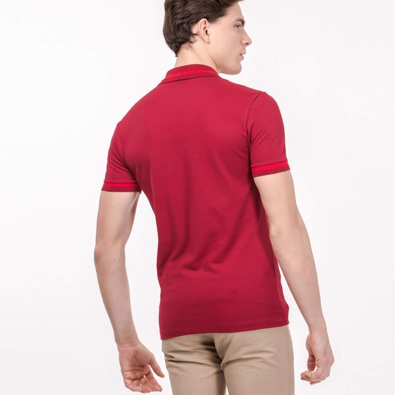 Lacoste Erkek Slim Fit Kırmızı Kısa Kollu Polo