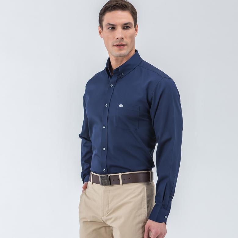 Lacoste Erkek Lacivert Regular Fit Gömlek
