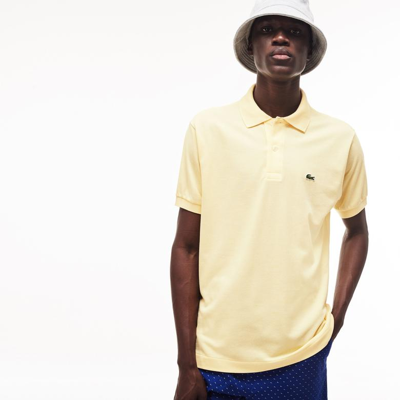 Lacoste Erkek L1212 Klasik Fit Sarı Kısa Kollu Polo