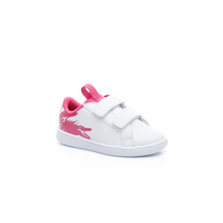 Lacoste Çocuk Beyaz - Koyu Pembe Carnaby Evo 119 1 Spor Ayakkabı