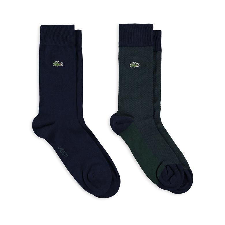 Lacoste Unisex 2'li Lacivert Çorap