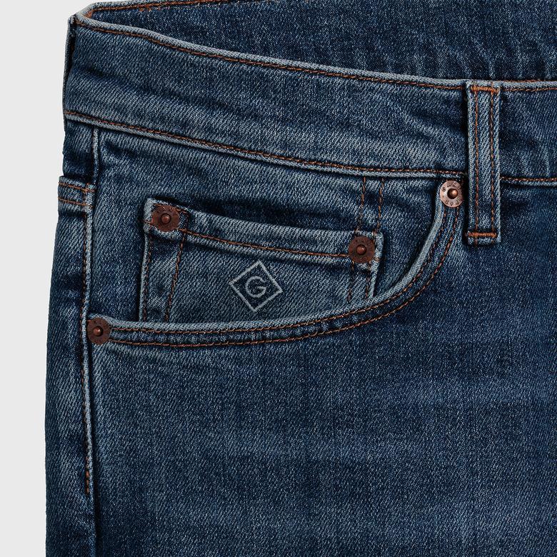 Gant Erkek Mavi Tapered Jean