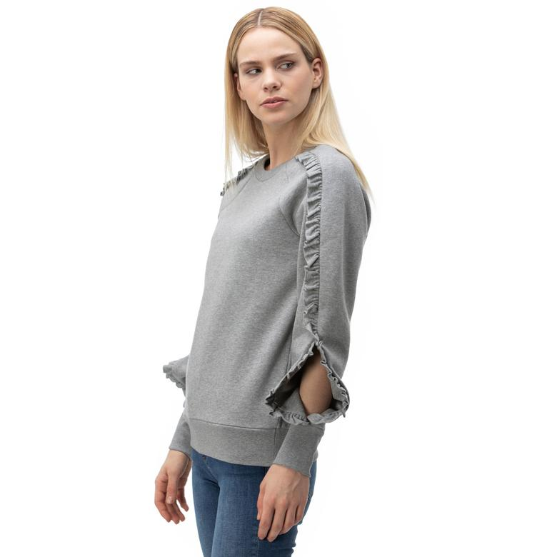 Burberry Kadın Gri Sweatshirt