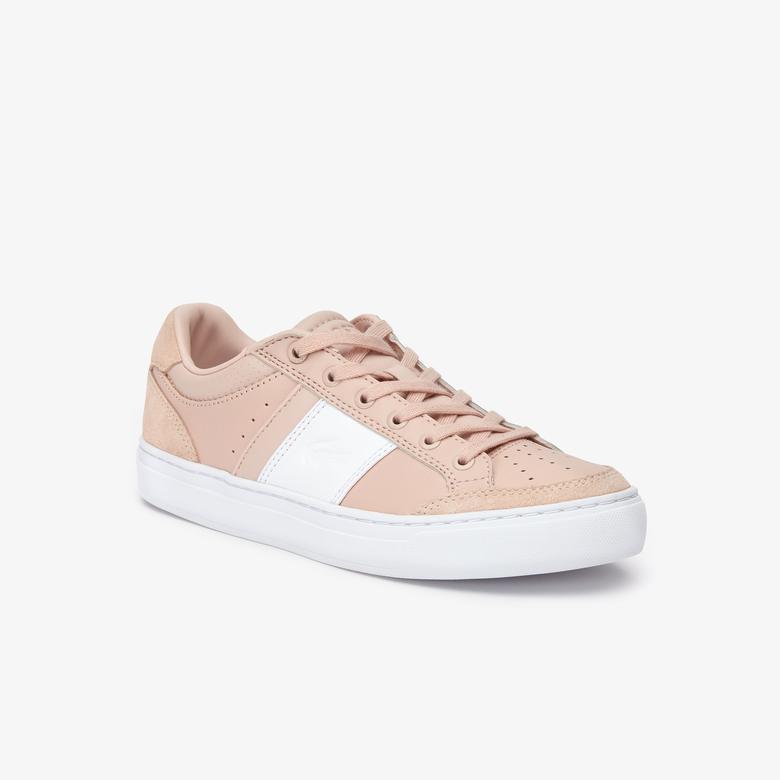 Lacoste Courtline 319 1 Us Cfa Kadın Pudra - Beyaz Casual Ayakkabı