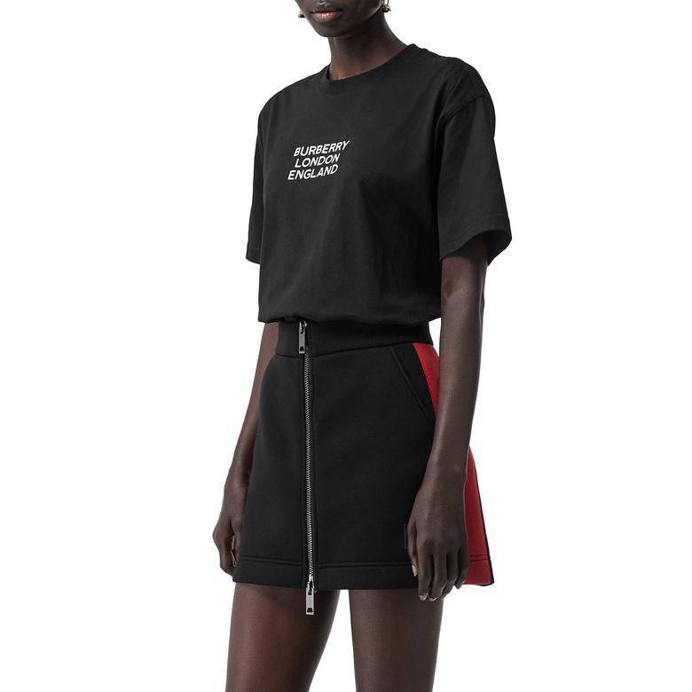 Burberry Kadın Siyah T-Shirt