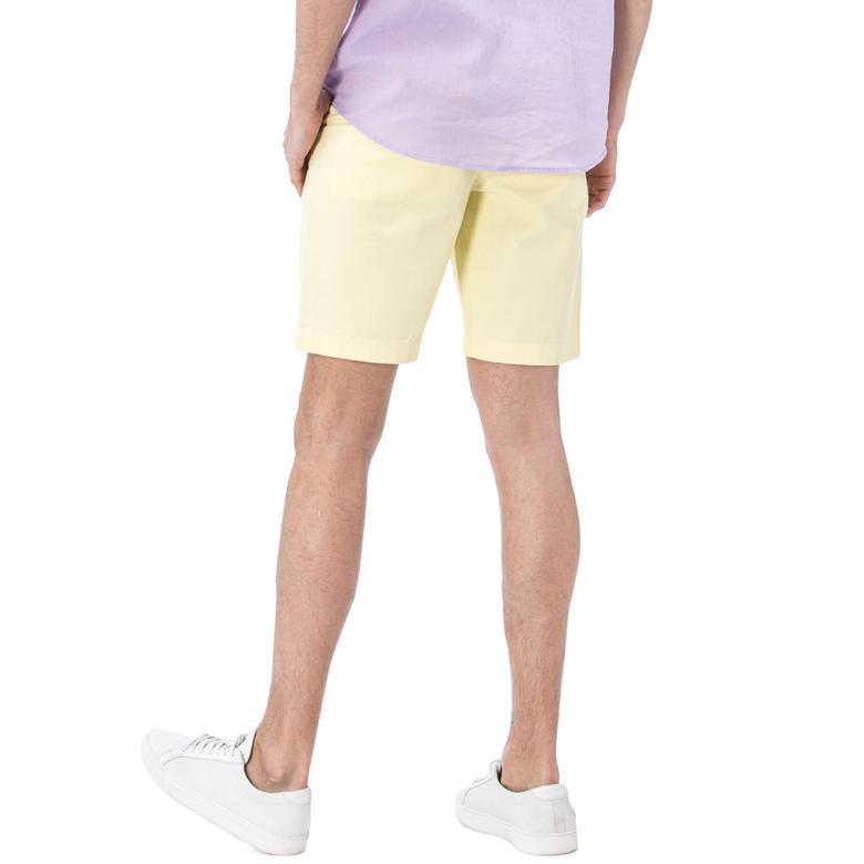 Nautica Erkek Sarı Chino Slim Fit Bermuda