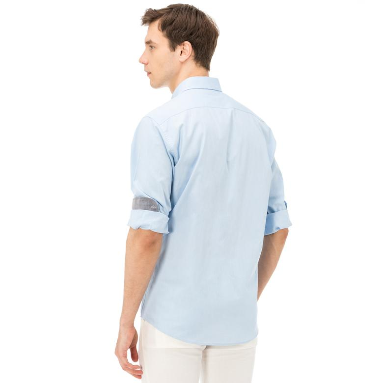 Nautica Erkek Mavi Uzun Kollu Uzun Kollu Cepli Oxford Gömlek