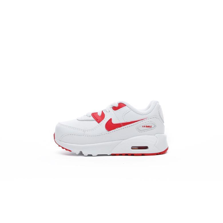Nike Air Max 90 LTR Bebek Beyaz-Kırmızı Spor Ayakkabı