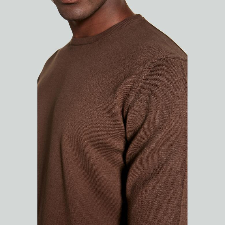 Ruck&Maul Erkek Kahverengi Triko