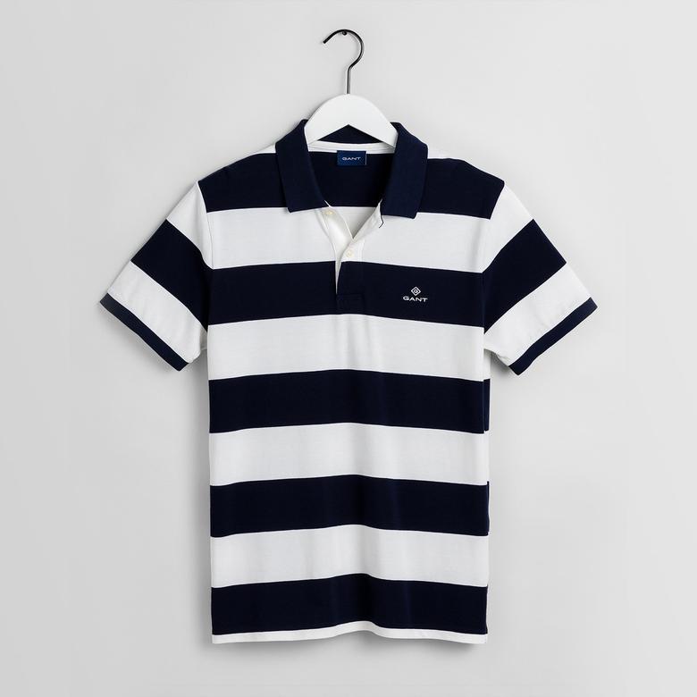 GANT Erkek Siyah-Beyaz Regular Fit Polo